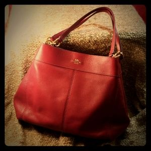 Coach Lexy pebble leather shoulder bag NWT